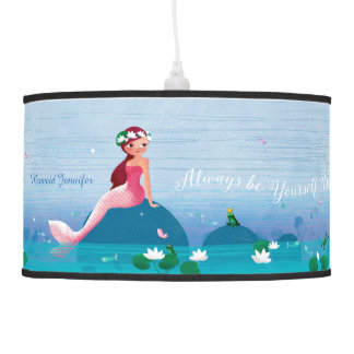 Funny Frog Prince and the Sweet Little Mermaid Ceiling Lamp