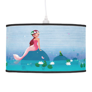 Funny Frog Prince and the Sweet Little Mermaid Hanging Lamps