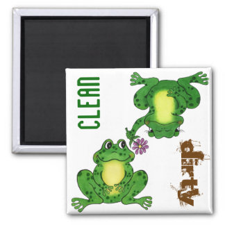 Funny Frogs - Customizable Dishwasher Magnet
