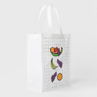 Funny Fruit Bowl Reusable Grocery Bag