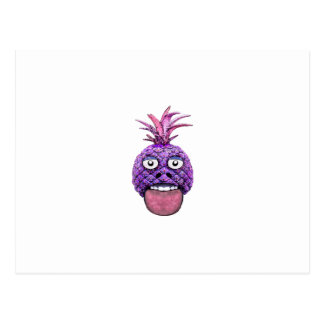 Funny Fruit Face Head Character Postcard
