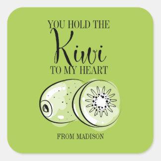 Funny Fruit Pun Kiwi Heart Valentine Sticker