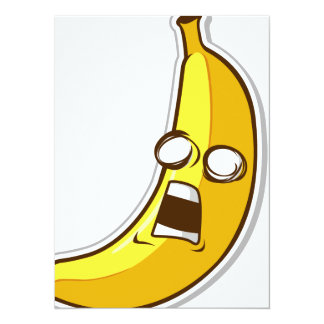 Funny Fruit with Expression - Banana Card