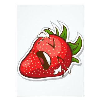 Funny Fruit with Expression - Strawberry Card