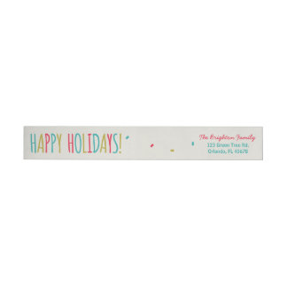 Funny Fruitcake Happy Holidays Wraparound Return Address Label