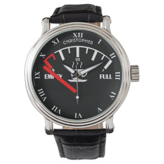 Funny Fuel Gauge Coffee Mug Time To Get Coffee Wristwatch
