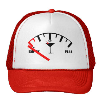 Funny Fuel Gauge Drink Cocktail Glass Trucker Hat