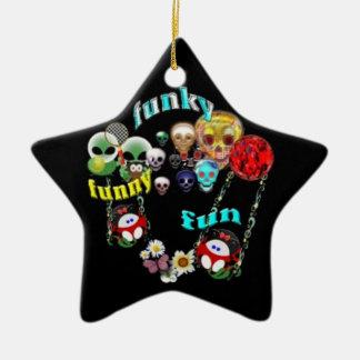 Funny funky fun ornament