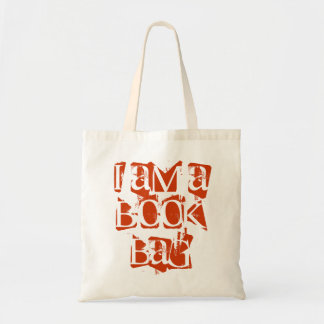 funny funky 'i am a book bag' library school bag