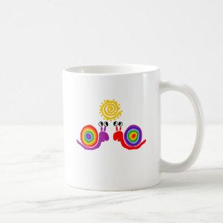 Funny Funky Rainbow Snail Love Abstract Art Coffee Mug