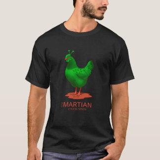 Funny Future Martian Chicken Farmer Green Alien T-Shirt
