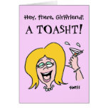 Funny Gal to Gal Cartoon Happy Birthday Greeting Card
