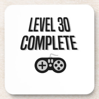 Funny Gamer 30th Birthday  Level 30 Complete Coaster