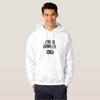 Funny Gamer 30th Birthday  Level 30 Complete Hoodie