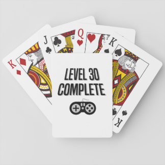 Funny Gamer 30th Birthday  Level 30 Complete Playing Cards
