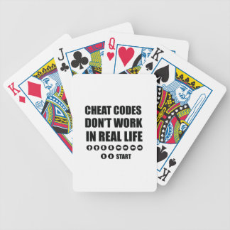 Funny Gamer designs Bicycle Playing Cards
