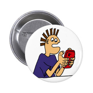 Funny Gamer Dude Cartoon 2 Inch Round Button