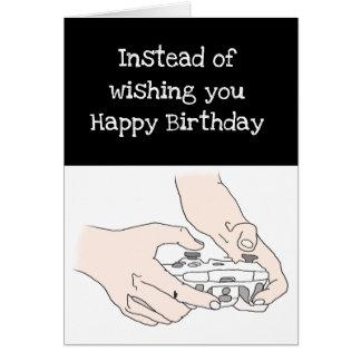 Funny Gamer Level 30 or Custom Age Birthday Card