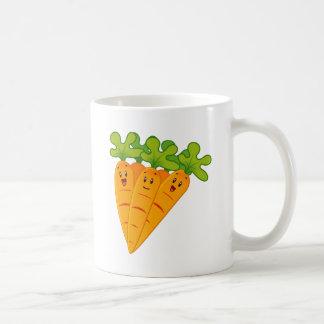 Funny garden carrots coffee mug