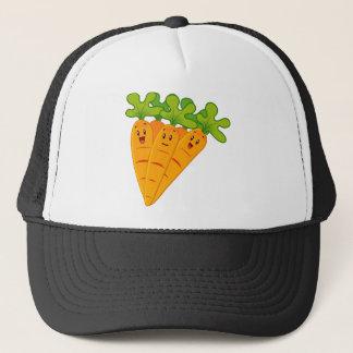 Funny garden carrots trucker hat