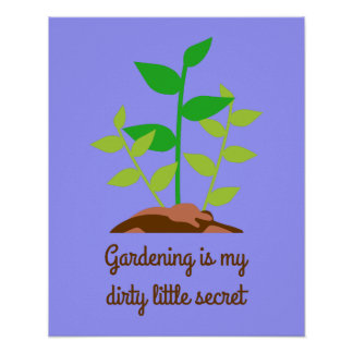 Funny Gardening Poster
