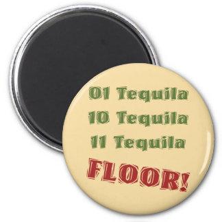 Funny Geek Nerdy Binary Tequila Drinking Spoof Magnet