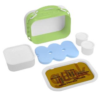 Funny Geek Word Cloud Lunch Box