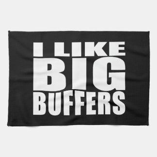 Funny Geeks Nerds IT : I Like Big Buffers Kitchen Towel