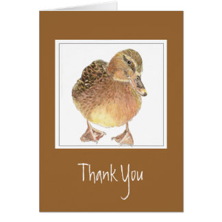 Funny, General - Thank You -  Duck Card
