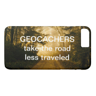 Funny Geocachers Travel Quote Road Less Traveled iPhone 8 Plus/7 Plus Case
