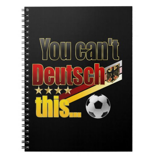 Funny German Humour Deutsch Lustig Fussball Humor Spiral Notebooks