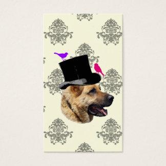 Funny German shepherd dog Business Card