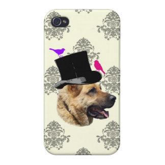 Funny German shepherd dog iPhone 4/4S Covers
