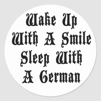 Funny German Sleep With A German Round Sticker