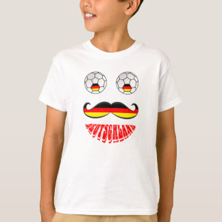 Funny Germany Soccer Football Face T-Shirt