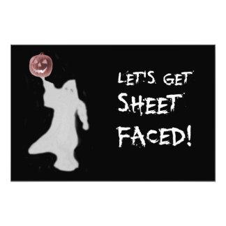 Funny Ghost Jack O Lantern Halloween Photograph