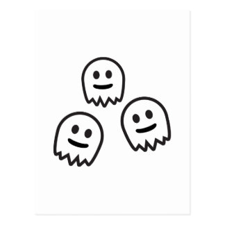Funny Ghosts Monster Post Card