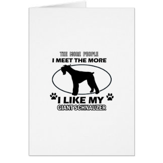 Funny giant schnauzer designs greeting card