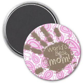Funny Gift for Mom; Pink Paisley Magnet
