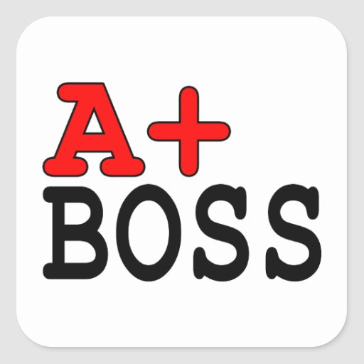 Funny Gifts for Bosses : A+ Boss Stickers