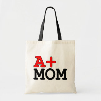 Funny Gifts for Moms : A+ Mom Tote Bag