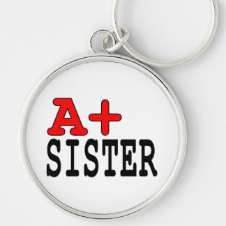 Funny Gifts for Sisters : A+ Sister Keychains