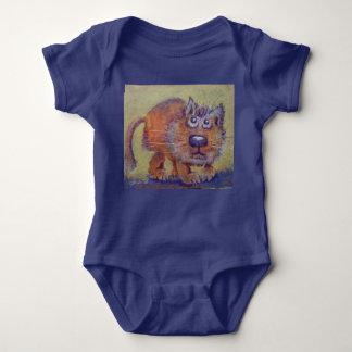 Funny Ginger Kitty Baby Bodysuit