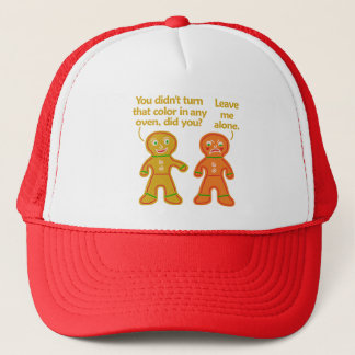Funny Gingerbread Fake Tan Christmas Trucker Hat