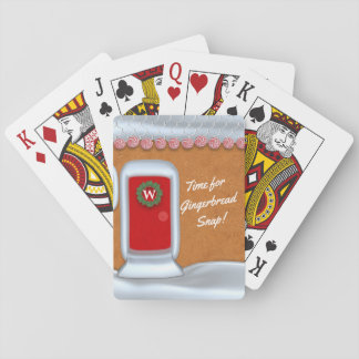 Funny Gingerbread House Custom Text Playing Cards