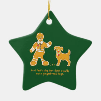 Funny Gingerbread Man and Dog for Christmas Ornaments
