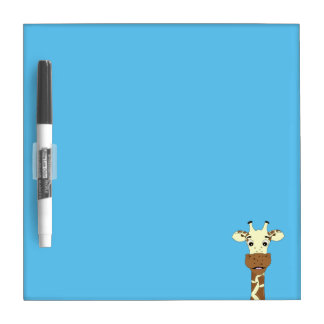 Funny giraffe cartoon kids dry erase whiteboard