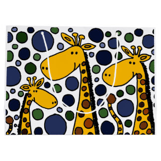 Funny Giraffe Family Abstract Gift Bag