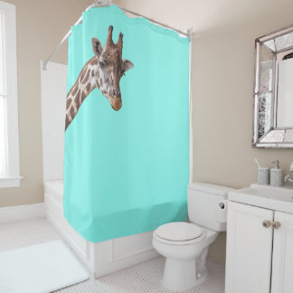Funny Giraffe is Watching You on Mint Green