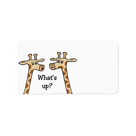 Funny Giraffe Labels